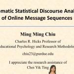 Ming Ming Chiu - Statistical Discourse Analysis
